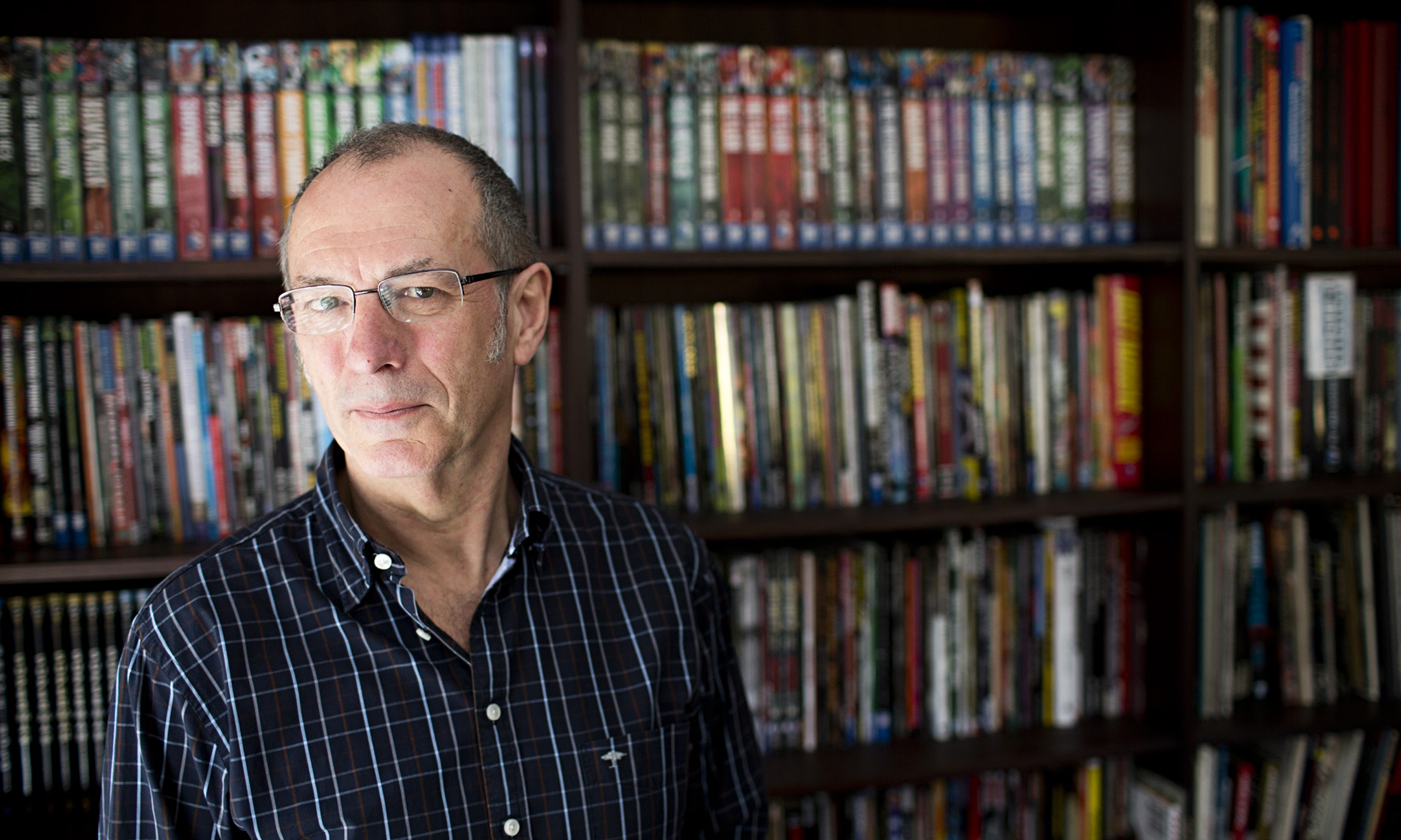Dave Gibbons, graphic artist and Watchmen co-creator, who is now comic laureate.