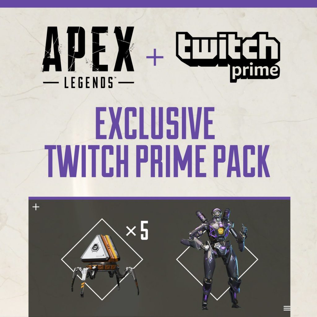 Apex Legends: Come ottenere il Twitch Prime Pack