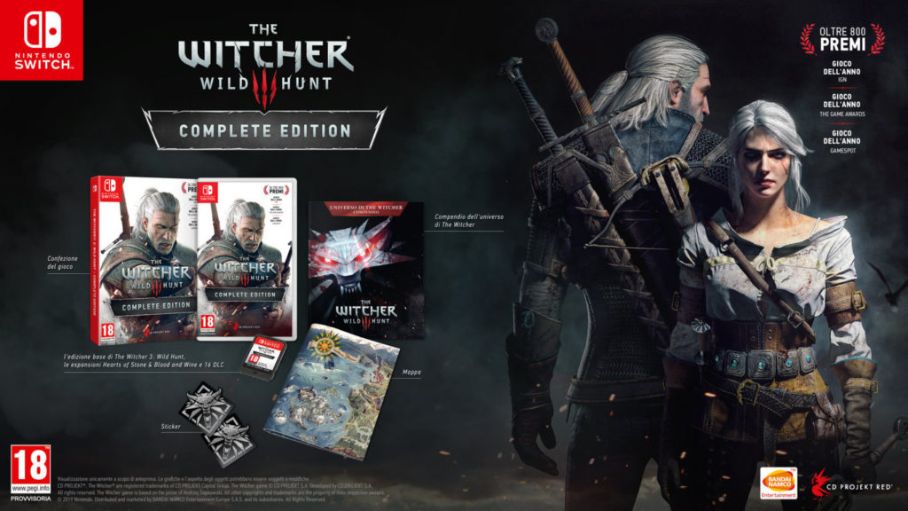The Witcher 3 è disponibile da oggi per Nintendo Switch!