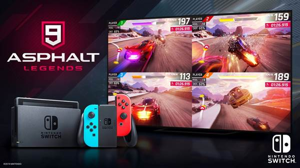 Asphalt 9 |  Legends rggiunge il milione di downloads su Nintendo Switch