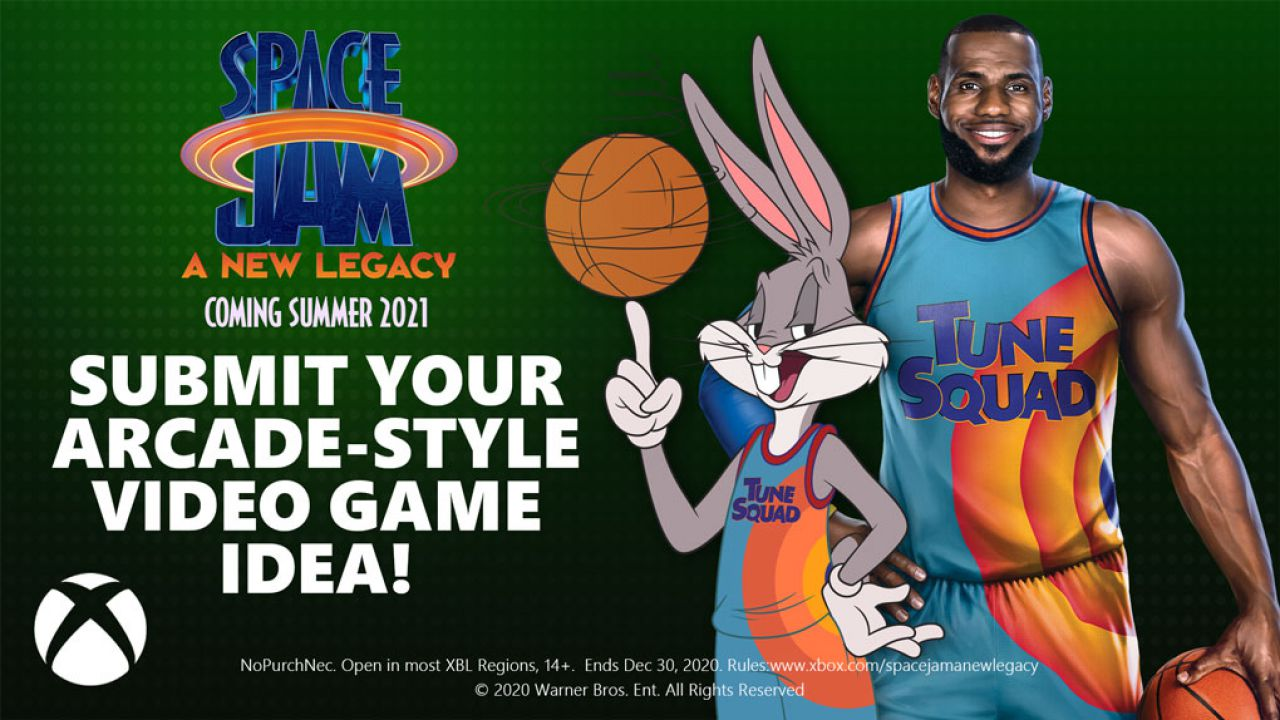 Xbox e Space Jam New Legends insieme: al via un contest per creare un video game arcade ispirato al film