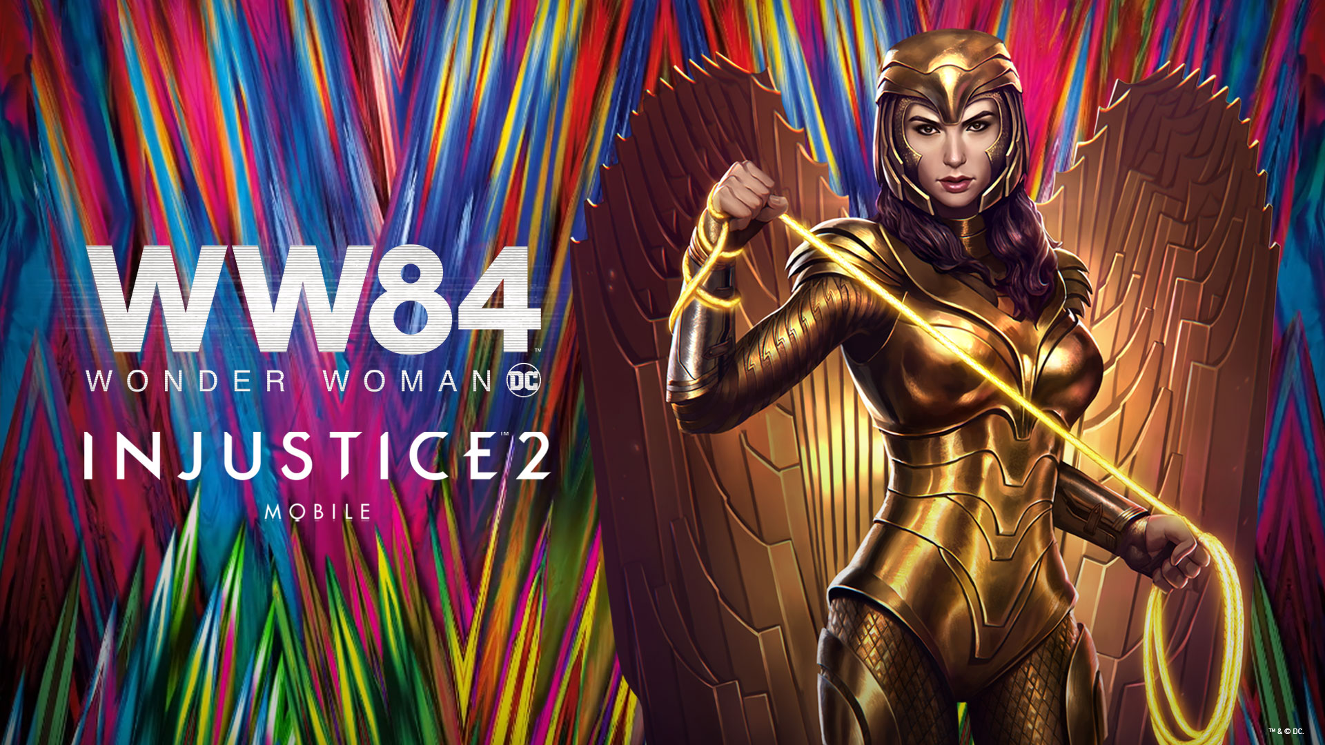 Wonder Woman Armatura Dorata disponibile per il gioco mobile Injustice 2
