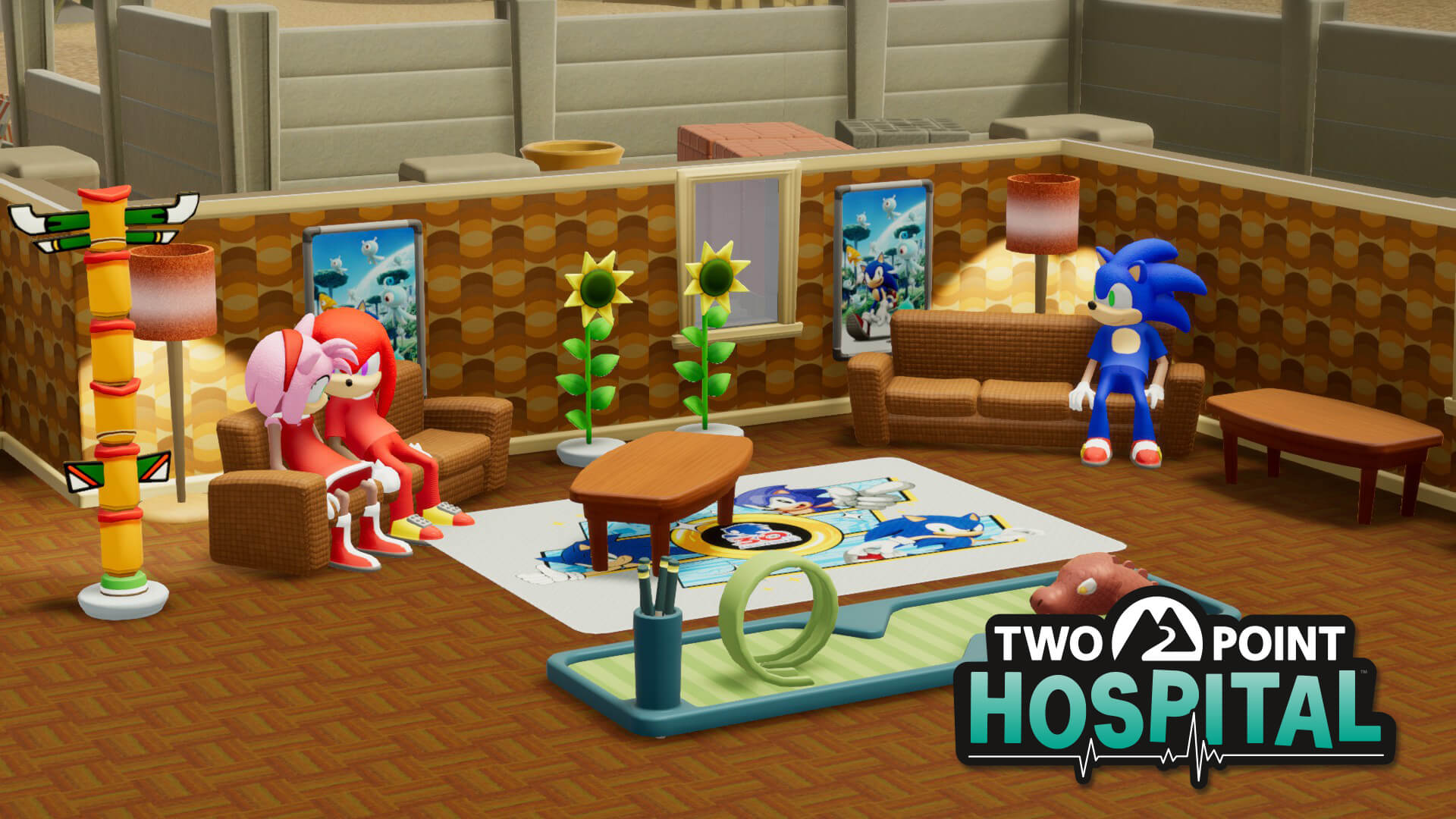 Sonic incontra Two Point Hospital